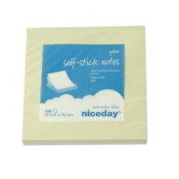 Post it Gule notes vifte foldede 76 x 76mm 12 stk
