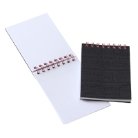 Notebook A7 m/lin. top spiral, sort 6. stk